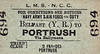 LMSR/NORTHERN COUNTIES COMMITTEE TICKET - BELFAST (York Road) - Third Class Navy, Army & Air Force on Duty Single to Portrush via Ballymena.