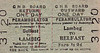 GREAT NORTHERN RAILWAY (IRELAND) TICKET - LAMBEG - Perambulator Day Return to Belfast, fare 1s 3d.