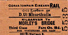 CORAS IOMPAIR EIREANN TICKET - KILGARVAN - Third Class Single to Morley's Bridge, fare 8d.