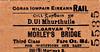 CORAS IOMPAIR EIREANN TICKET - KILGARVAN - Third Class Single to Morley's Bridge, fare 8d.