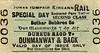 CORAS IOMPAIR EIREANN TICKET - DURRUS ROAD - Second Class Special Day Return to Dunmanway. Note mis-spelling.