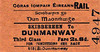 CORAS IOMPAIR EIREANN TICKET - SKIBBEREEN - Third Class Single to Dunmanway, fare 2s 8d.