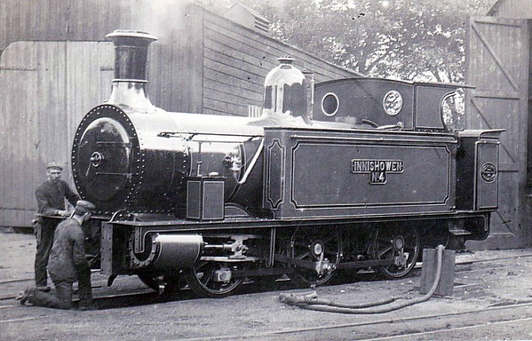 No.4 INISHOWEN - 0-6-0T - built 1885 by Black Hawthorn & Co., Works No.834 - 1913 to No.17 - name removed in 1920's - 1940 withdrawn.