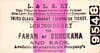 L&LSR TICKET - LONDONDERRY to FAHAN or BUNCRANA - Third Class Sunday Excursion Return to Fahan or Bunacrana.