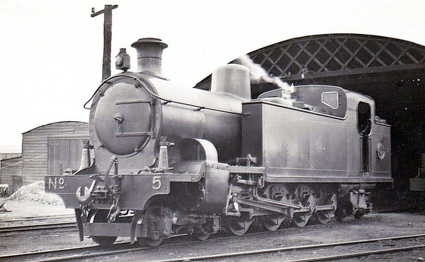 No. 5 - 4-8-4T, built 1912 by Hudswell Clarke & Co., Works No.985 - withdrawn 1954 - seen here at Londonderry in 1948.