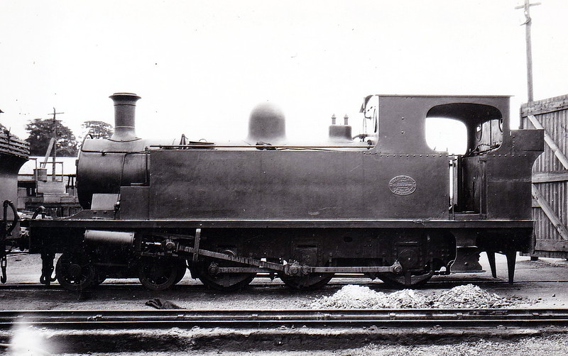 No.1 - 4-6-0T - built 1902 by Andrew Barclay & Co., Works No.933, for the Letterkenny & Burtonport Extension Railway - 1913 absorbed into L&LSR stock - 1940 withdrawn - seen here at Pennyburn MPD in 1931