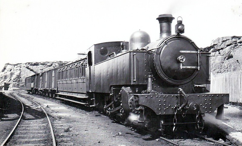 No.13 - 4-6-2T, built 1910 by Hawthorn Leslie & Co., Works No.2801 - 1940 withdrawn - seen here at Burtonport in 1931.
