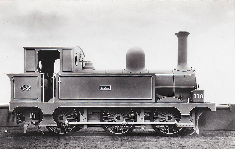Class E - Atock 110 BAT - Class E 0-6-0T - built 1891 by Sharp Stewart & Co., Works No.3694 - 1925 to GSR as Class 551 No.555, 1945 to CIE - 1955 withdrawn.
