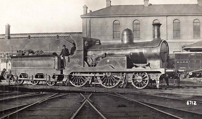8 ST PATRICK - Atock MGWR 2-4-0 - built 1870 by Avonside Engine co., Works No.802 - 1890 withdrawn.