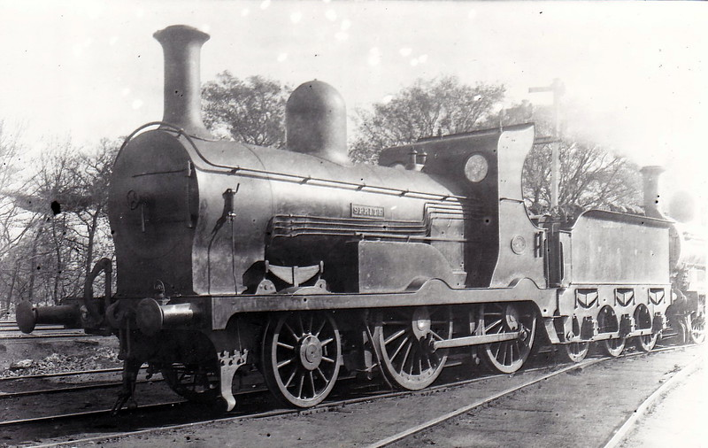 Class K - 24 SPRITE - Atock MGWR 2-4-0 - built 1897 by Broadstone Works - 1918 rebuilt with round topped superheated boiler, Class Ks - 1925 to GSR as Class G2 No.665 - 1945 to CIE - 1949 rebuilt with superheated Belpaire boiler - 1959 withdrawn.