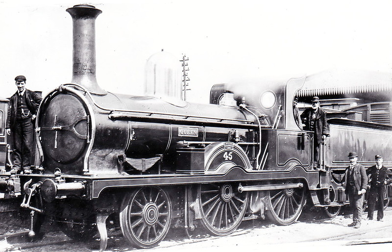 Class D - 45 QUEEN - Atock MGWR 2-4-0 - built 1886 by Broadstone Works - 1905 rebuilt with Belpaire boiler - 1922 withdrawn.