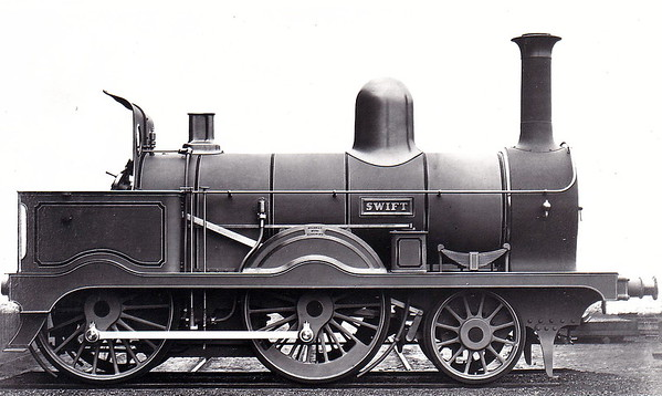 21 SWIFT - Atock MGWR 2-4-0 - built 1873 by Neilson & Co., Works No.1790 - 1896 withdrawn