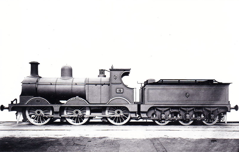 Class W - 141 LIMERICK - MGWR Class W 0-6-0 - built 1900 by Kitson & Co., Works No.3974, as WLWR No.4 SHAMROCK - 1901 purchased from builders by M&GWR as No.141 LIMERICK - 1925 to GSR as Class J17 No.233 - 1929 withdrawn - seen here in builders picture as No.4 SHAMROCK.