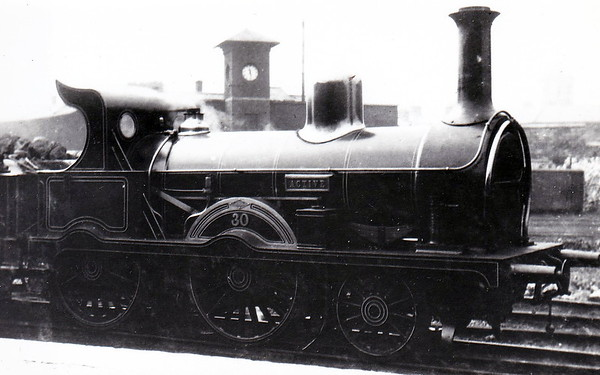 30 ACTIVE - Atock MGWR 2-4-0 - built 1876 by Dubs & Co., Works No.905 - 1905 rebuilt with Belpaire boiler - 1897 withdrawn.