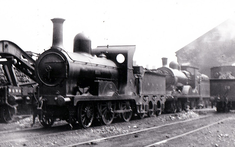Class K - 32 ARIEL - Atock MGWR 2-4-0 - built 1898 by Broadstone Works - 1924 rebuilt with round topped superheated boiler, Class Ks - 1925 to GSR as Class G2 No.668 - 1940 rebuilt with Belpaire boiler - 1945 to CIE - 1959 withdrawn - seen here at Broadstone Works in July 1914.