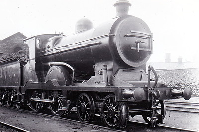 Class C - 10 FAUGH-A-BALLAGH -  Cusack MGWR Class C 4-4-0 - built 1909 by Broadstone Works - 1921 rebuilt with superheated Belpaire boiler as Class C1 - 1925 to GSR as No.543 - 1926 rebuilt with superheated Belpaire boiler - 1945 to CIE - 1959 withdrawn - seen here at Broadstone.
