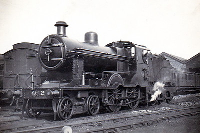 Class B - 24 - 4-4-0. built 1898 by Beyer Peacock & Co., Works No.4059 - 1903 to MR(NCC), 1923 to LMS(NCC) - 1925 rebuilt to Class B2, 1928 rebuilt with superheated Belpaire boiler as Class B3 - 1932 named COUNTY LONDONDERRY - 1947 withdrawn - seen here after 1928 but before 1932.