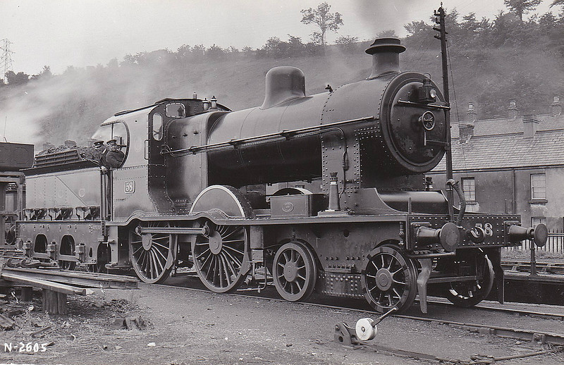 Class A1 - 58 - MRNCC 4-4-0 - built 1907 by York Road Works as Class A No.17 - 1927 to NCC No.58 - 1934 rebuilt as simple with Belpaire superheated boiler to Class A1 - 1949 to UTA - 1954 withdrawn.
