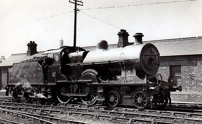 Class U2 - 80 DUNSEVERICK CASTLE - Class U2 4-4-0, built 1925 by York Road Works - 1933 named - withdrawn 1961 - seen here at Belfast York Road in 1933.