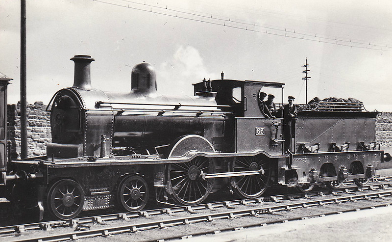 Class A - 63 - MRNCC 4-4-0 - built 1905 by Derby Works - 1923 to LMSNCC - 1932 named QUEEN ALEXANDRA - 1936 withdrawn.