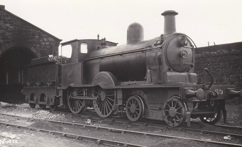 Class B - 59 KING EDWARD VII - B&NCR Class B 4-4-0 - built 1897 by Beyer Peacock & Co., Works No.3885 - 1903 to NCC(MR), 1923 to NCC(LMS) - 1924 withdrawn.