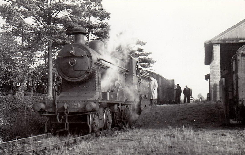 Class B3 - 21 - B&NCR Class C 2-4-0, built 1890 by Beyer Peacock & Co., Works No.3200, as Belfast & Northern Counties Railway No.51 - 1903 to MR(NCC), 1923 to LMS(NCC) - 1928 rebuilt with Belpaire boiler as Class B3 4-4-0 No.21 - 1932 named COUNTY DOWN - withdrawn 1947 - seen here on the 'County Down' goods.