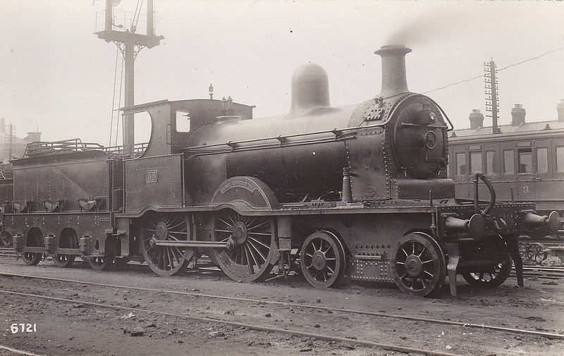 Class A - 33 KING EDWARD VII - B&NCR Class A 4-4-0 - built 1902 by York Road Works as B&NCR No.3 KING EDWARD VII - 1903 to NCC(MR), 1923 to NCC(LMS) - 1926 to NCC No.33, 1927 name removed, 1932 rebuilt and named BINEVENAGH, 1949 to UTA - 1949 withdrawn.