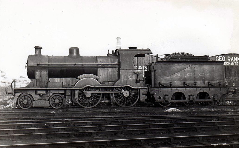 Class A - 64 TROSTAN - Class A 4-4-0 - built 1905 by Derby Works - 1929 rebuilt with Belpaire bolier - name added 1932 - 1948 to UTA - withdrawn 1954.