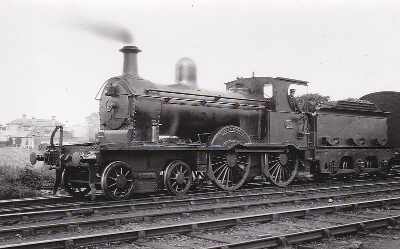 Class A - 63 QUEEN ALEXANDRA - MRNCC 4-4-0 - built 1905 by Derby Works - 1923 to LMSNCC - 1932 named QUEEN ALEXANDRA - 1936 withdrawn