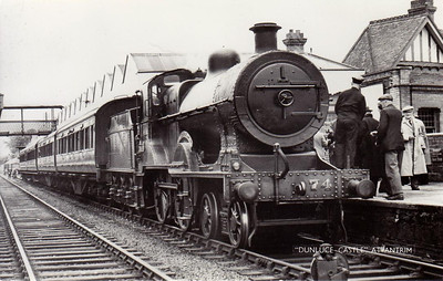 Class U2 - 74 DUNLUCE CASTLE - Fowler Class U2 4-4-0, built 1924 by North British Loco Co. - 1949 to UTA - withdrawn 1963 - seen here at Antrim.