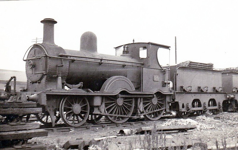 Class F - 23 - B&NCR 2-4-0 - built 1885 by Beyer Peacock & Co., Works No.2648 - 1903 to MRNCC, 1923 to LMSNCC - 1940 withdrawn, 1941 reinstated, 1942 withdrawn.