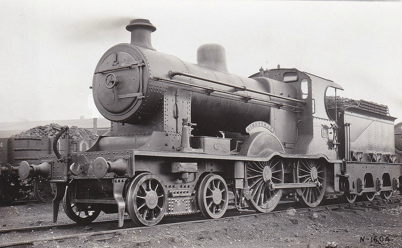 Class A1 - 33 - B&NCR Class A 4-4-0 - built 1902 by York Road Works as B&NCR No.3 KING EDWARD VII - 1903 to MRNCC, 1923 to LMSNCC - 1926 to LMSNCC No.33 - 1927 name removed - 1932 rebuilt to Class A1 - 1933 named BINEVENAGH - 1949 withdrawn - seen here in December 1932.