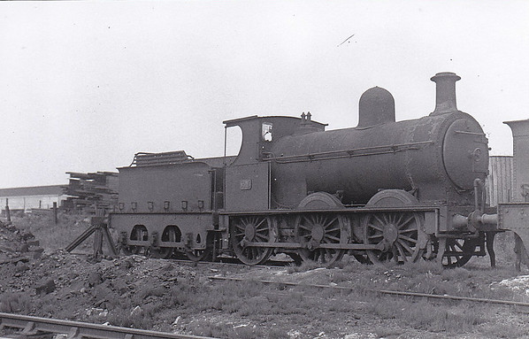 Class K - 31 - B&NCR Class K 0-6-0, built 1878 by Beyer Peacock & Co. - 1903 to MR/NCC, 1923 to LMS/NCC, 1927 rebuilt to Class K1 - 1947 withdrawn - seen here at York Road in June 1948.
