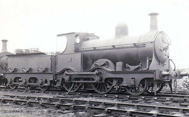 Class G1 - 10 - B&NCR Class G1 2-cylinder Compound 2-4-0 - built 1876 by Sharp Stewart & Co., Works No.2627 - 1903 to MRNCC, 1923 to LMSNCC - 1910 rebuilt to Class G1 as simple - 1931 withdrawn.
