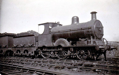 Class B1 - 51 - B&NCR Class C 2-4-0, built 1890 by Beyer Peacock - 1903 to MR(NCC), 1923 to LMS(NCC), 1926 rebuilt to Class B1, 1928 to NCC rebuilt with Belpaire boiler to Class B3 4-4-0 and to No.21 - withdrawn 1947 - seen here at Belfast York Road.