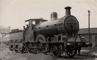 Class C1 - 51 - Class C 2-4-0, built 1892 by Beyer Peacock as Belfast & Northern Counties Railway No.21 - 1903 to MR(NCC), 1923 to LMS(NCC), 1928 rebuilt to Class C1 as No.51 withdrawn 1938 - seen here at Belfast York Road in 1932.