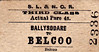 SL&NCR TICKET - BALLYSODARE - Third Class Single to Belcoo, fare 4s 0d - I wonder what is meant by the 'Actual Fare'?
