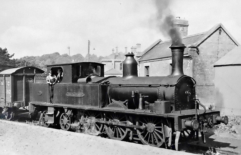 HAZLEWOOD -  'Leitrim' Class 0-6-4T, built 1899 by Beyer Peacock, Works No.4074 - withdrawn 1957 - seen here at Enniskillen.