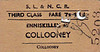 SL&NCR TICKET - ENNISKILLEN - Third Class Single to Collooney - fare 7s 11d - dated January 5th, 1967.