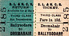 SL&NCR TICKET - DROMAHAIR - Third Class Two Day Return to Ballysodare - fare 1s 10d.