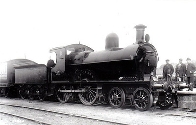 DUBLIN & SOUTH EASTERN RAILWAY - 57 RATHNEW - D&SER 4-4-0, built 1896 by Vulcan Foundry - 1906 rebuilt with Belpaire boiler, 1925 to GSR as No.452 - withdrawn 1933 - seen here after 1906 rebuild.