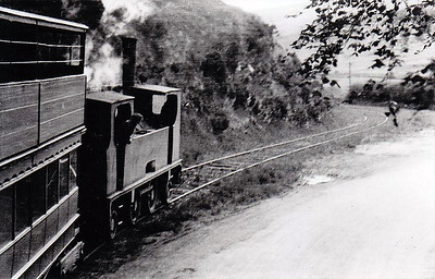 DUBLIN & BLESSINGTON STEAM TRAMWAY - 10 - 2-4-2T built 1906 by Tim Green as D&BST No.2 - 1914 to D&BST No.10 - withdrawn in 1932 - seen here on a Dublin - Blessington train in 1932. Author Roddy Doyle's father was driver on the D&BST.