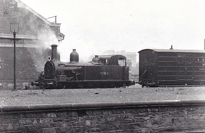 DUBLIN, WICKLOW & WEXFORD RAILWAY - 2 - 2-4-0T - built 1885 at Kingstown Works as No.2 GLENAGEARY - 1925 withdrawn on takeover by GSR.