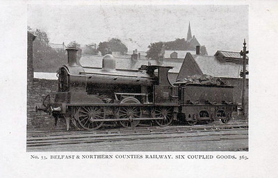 BELFAST & NORTHERN COUNTIES RAILWAY - 53 - Class E 0-6-0, built 1892 by Beyer Peacock - 1903 to MRNCC, 1911 rebuilt to Class E1, 1921 rebuilt, 1923 to LMSNCC - withdrawn 1934.