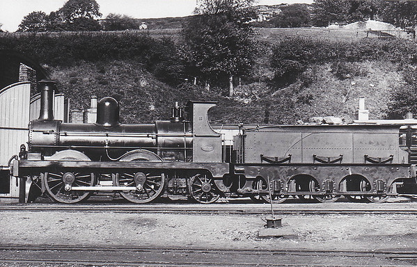 WATERFORD & CENTRAL IRELAND RAILWAY - 1 - 0-4-2, built 1884 by Sharp Stewart & Co. - 1900 to GS&WR as No.250 - 1905 withdrawn.