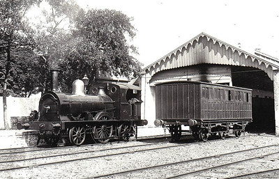 WATERFORD & TRAMORE RAILWAY - 1 - 2-2-2WT, built 1855 by W Fairbairn - 1925 to GSR as No.483 - withdrawn 1936 - seen here in about 1906.