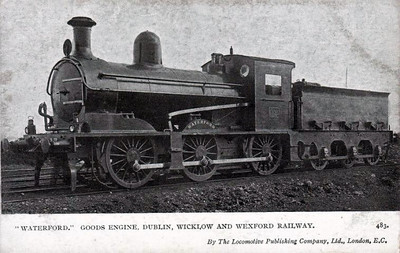 DUBLIN, WICKLOW & WEXFORD RAILWAY - 13 WATERFORD - 0-6-0 built 1905 by Grand Canal Street Works - 1906 to D&SER, 1925 to GSR as No.442 - withdrawn 1930.