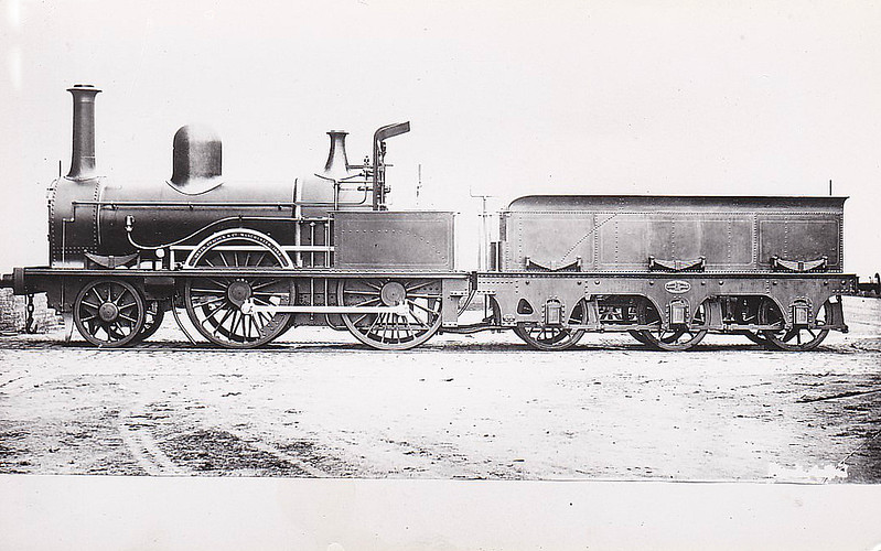 BELFAST & NORTHERN COUNTIES RAILWAY - 1 - Class I 2-4-0, built 1868 by Beyer Peacock Ltd. as B&NCR No.40 - 1869 to B&NCR No.1 - 1903 to MRNCC, 1923 to LMSNCC - withdrawn 1924.