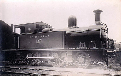 DUBLIN & SOUTH EASTERN RAILWAY - 29 ST MANTAN - DW&WR 2-4-2T - built 1906 by Grand Canal Street Works - 1925 to GSR as No.437, 1937 rebuilt with round topped boiler, 1945 to CIE - withdrawn 1951.