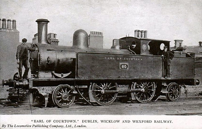 DUBLIN, WICKLOW & WEXFORD RAILWAY - 60 EARL OF COURTOWN - LNWR 2-4-2T, built 1883 by Crewe Works, LNWR No.2502 - one of 6 similar engines purchased 1902 - sold 1917 to Inland Waterways & Docks Co. - 1919 scrapped.